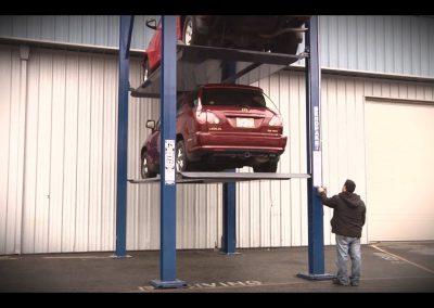 three stacker car lift